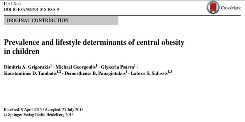 Prevalence and lifestyle determinants of central obesity in children